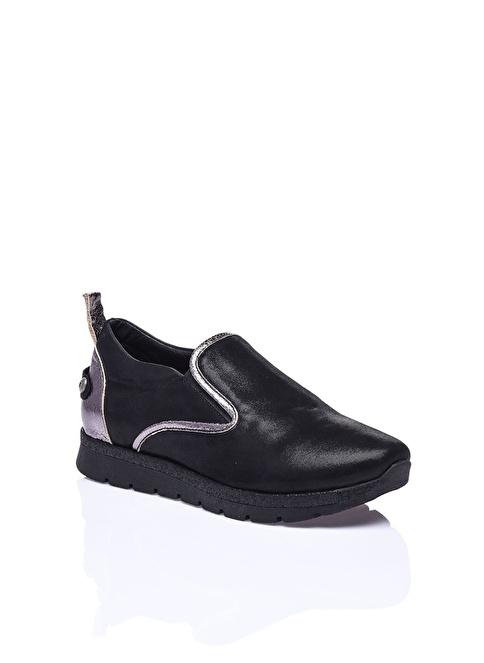 Camore %100 Deri Casual Ayakkabı Siyah